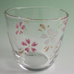 京絵付フリーカップ 桜満開