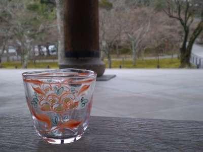 京絵付フリーカップ赤絵